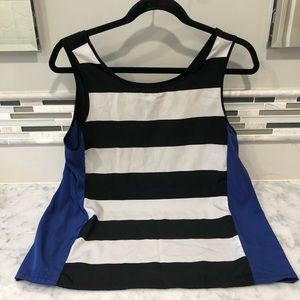 bb dakota blue / black / white striped tank top